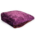 Jaipurcrafts Webelkart Solid Color Ultra Silky Soft Heavy Duty Quality Indian Mink Blanket 6.6 Lbs Double Purple- With Attractive Carry Bag