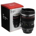Super Classic Camera Lens Shaped Coffee Mug with Lid, 350 ml, Black (MUG_001)