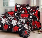 Sawera 140 TC Cotton Double 3D Printed Bedsheet  (1 Double Bed Sheet With 2 Pillow Covers, Multicolor)