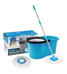 🎁 *Primeway 360 Degree Rotating Dark Blue 5500 ML Magic Spin Mop Set with 2 Microfibre Mop Heads At Rs.409. 70% Off From Pepperfry* 🎁