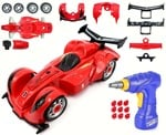 Toys Bhoomi 2 In 1 Build Your Own Formula Racing Car Modification Playset (24 Pieces) - Multi Color