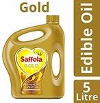 Saffola Gold Edible Oil, Jar, 5L @ 630