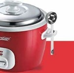 Prestige CUTE 1.8-2 Electric Rice Cooker with Steaming Feature  (1.8 L, Silky Red)