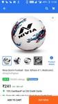 Nivia Storm Football - Size: 5 at 241/-