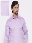 Van Heusen Men Purple Custom Regular Fit Checked Formal Shirt