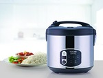 [ lowest] Borosil BRC18LDSS11 1.8-Liters Electric Rice Cooker and Steamer