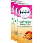 Veet Nikhaar Hair Removal Cream for All Skin Types - 25 g (Pack of 3)