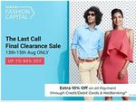Flipkart:  10% Instant Discount upto Rs 500 with Debit Cards, Credit Cards & Net banking on purchase of selected Fashion products
