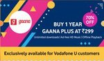 [70% discount] Gaana plus annual subscription @₹299 only