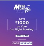 Ixigo 1000 cashback on minum ticket price 2000