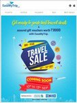 Easemytrip's Biggest Mid Year Travel sale from 10th - 13th Sep - offers on Standard Chartered and Yes Bank Debit and Credit cards