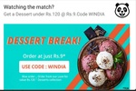 Food panda (new code) : Get a Dessert under Rs. 120 at Rs. 9