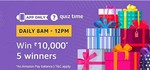 Amazon Quiz Time Answers - Win ₹10, 000/- - 27 September 2018