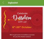 Bigbasket Dussehra Fest 6-20 Oct - Rs. 1 Deals, Rs. 99 Store, Buy 1 Get 1 FREE, + 15% HDFC Offer