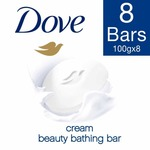 Dove Cream Beauty Bathing Bar, 100g (Pack of 8) at Rs 294/-