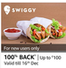 Get 100% Cashback upto Rs.100 applicable to first time user of Amazon Pay on Swiggy | 15-16 Dec
