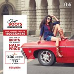Bigg bazar/fbb loot Call on 18005324646 & get ladies boots at half of price