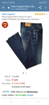 Peter England Men's Skinny Fit Jeans (EDN5170945892_36_Medium Blue with Blue) 70% off