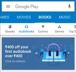 ₹400 off your first audiobook - Playstore