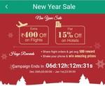 happy easy go new year sale 400 off on flight above 5000 & 250 off on flight below 5000