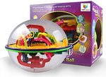 Toys Bhoomi 208 Steps 3D Magic Intellect Maze Ball Educational Learning Puzzle Game (Multicolour)