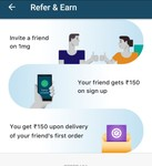 refer and earn 150rs 1mg cash each
