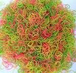 RuBands - Half inch Premium Rubber Bands - Fluorescent Colors - 50 grams pack