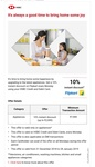 FLIPKART 10% off on appliances - HSBC Card Holder