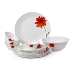 [Expired]Cello Imperial Aster Flower Opalware Dinner Set, 19 Pieces, @67% off
