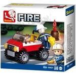 (Int. Seller Price 2k) Sluban Fire Police Car (58Pcs) Building Block Crontsruction Toys For Kids
