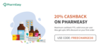 20% Freecharge Cashback upto ₹75 on Pharmeasy + 30% off on your first order | 1-31 Jan