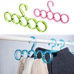 Hanger Plastic Ring Hanger(Brown)