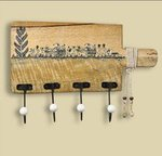 [price error ; buy fast ; loot may be] ExclusiveLane Wood Cloth Hanger Stand, Natural Light Brown
