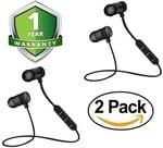 back--> Forestone Pack of Two Magnetic Bluetooth Attractive Headphone