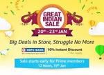 Amazon Great Indian Sale 20th to 23rd Jan