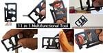 Paradigm Originals 11-Tools-in-1 Stainless Steel Multifunctional Survival Tool Black