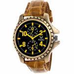Fogg Analog Black Dial Men's Watch 11054-BK-GL