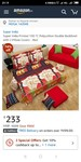 Super India Printed 130 TC Polycotton Double Bedsheet with 2 Pillow Covers - Red
