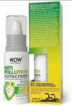 WOW Anti Pollution SPF 40 Water Resistant No Parabens & Mineral Oil Sunscreen, 100mL Rs. 249  Apply coupon 10% coupon