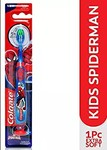 Colgate Kids Spider-man Toothbrush, Extra Soft with Tongue Cleaner