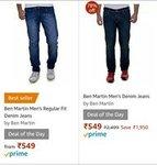 Ben Martin's Men's Denim Jeans@549 ( Amazon Best Seller)