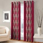 Impeccable Home Kolaveri 2 Piece Eyelet Polyester Window Curtain Set - 5ft from Rs.264