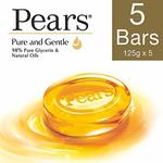 [ Pantry ] Pears Pure And Gentle Bathing Bar, 125g (Pack Of 5)- Rs  186  [ 30 %  off   ] @  amazon