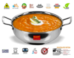 Pepperfry WTF DEAL 8th Mar : 53% off on Sumeet Stainless Steel Kadhai- 2.3 Ltr || 80% off on Spanio XXXL Bean Bag with Beans || 58% off on Polyester 16 x 16 inch Cushion Insert - Set of 5