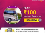 Flipkart Offer On Bus Ticket Booking :- Flat Rs.100 off on Bus Ticket Booking ( No Min Booking Required )
