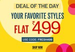 NNNOW Deal Of The Day : Flat 499/-