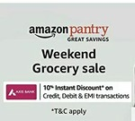 Amazon Pantry: 10% Instant Discount Using Axis Bank Debit & Credit Card