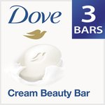 Dove Cream Beauty Bathing Bar, 75g (Pack of 3) with Free 50g (Pantry)