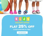 CROCS - KIDS DELIGHT OFFER - FLAT 25 % OFF