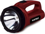 54% off on Wipro Emerald Torch(Maroon : Rechargeable)